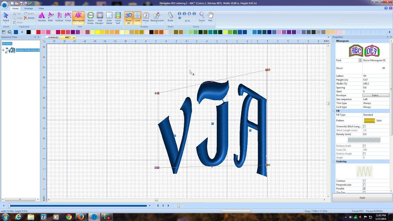 embroidery lettering digitizing software12 youtube