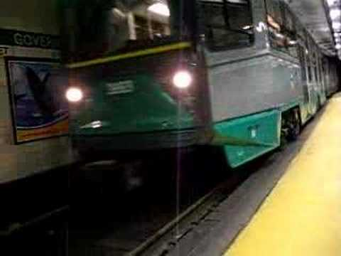 MBTA Green line B and C trains at Government Center