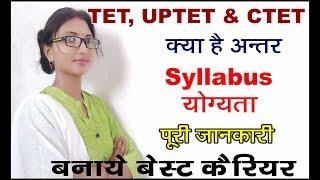 Difference between TET- CTET, UPTET || Syllabus, योग्यता - पूरी जानकारी |