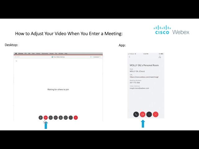 ¿Cómo ajustar el video en Webex?