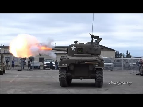 M4 Sherman Tank Impresses Crowd w/ Multiple Firing Shots