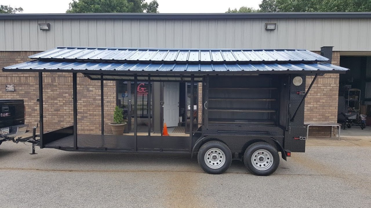 Mobile Kitchen BBQ Grill Smoker Cooker Food Truck Catering Concession  Trailer