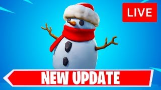 🔴 [LIVE] *NEW* FORTNITE UPDATE! NEW SNEAKY SNOWMAN ITEM & VAULTED WEAPONS! (FORTNITE BATTLE ROYALE)