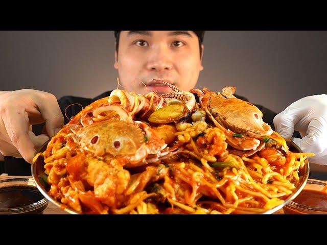 여러가지 해산물이 들어간 해물찜에 밥까지 비벼서 먹방~!! 리얼사운드 ASMR social eating Mukbang(Eating Show)