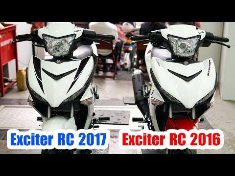 Yamaha Exciter 150 RC 2017 Trắng Đỏ vs Exciter 150 RC 2016 Trắng Đỏ  ▶ So sánh tổng quan