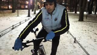 Техника зимнего катания на велосипеде