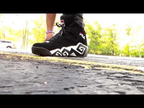On Foot: Fila Mashburn MB On Feet blk/wht/red🔥🔥🔥
