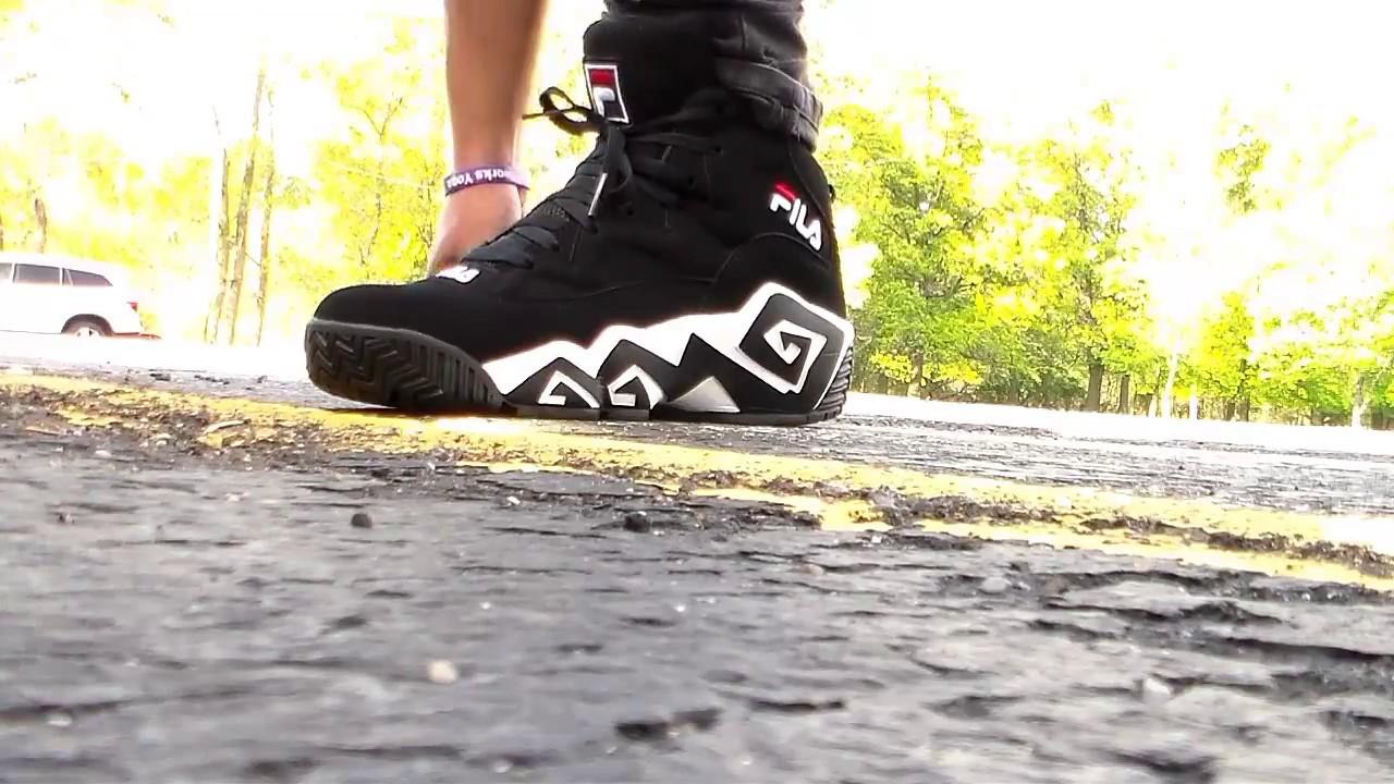 fila sneakers on feet