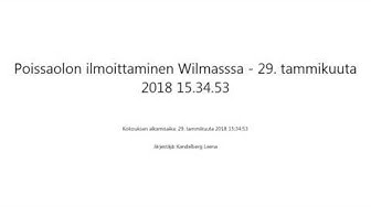 Poissaolon ilmoittaminen Wilmasssa