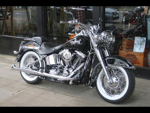 2014 harley davidson softail deluxe custom chrome special fishtail pipes wchd glasgow scotland