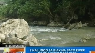 NTG: 8 katao, nalunod sa Biak na Bato River sa San Miguel, Bulacan noong Setyembre 2004
