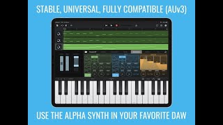 BLEASS Alpha Synth AUv3 for iPad