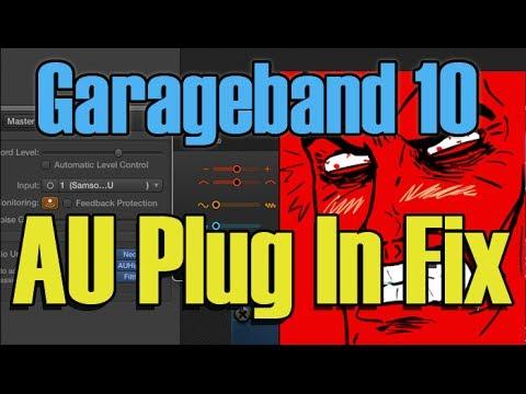Garageband 10 AU Plug In Fix