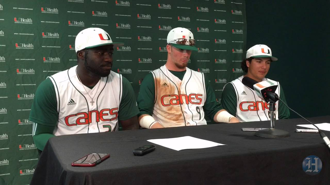 University Of Miami Baseball Players Talk About Sweep Of North Carolina Youtube