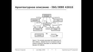 Описание архитектуры ИТ-решений / Мастерская проектирования ИТ-решений