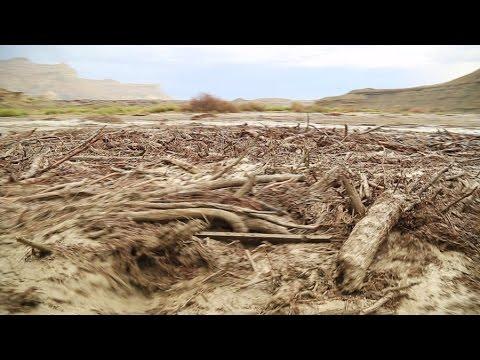 a monster flash flood debris flow drone footage youtube