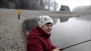 в первый раз на рыбалке.