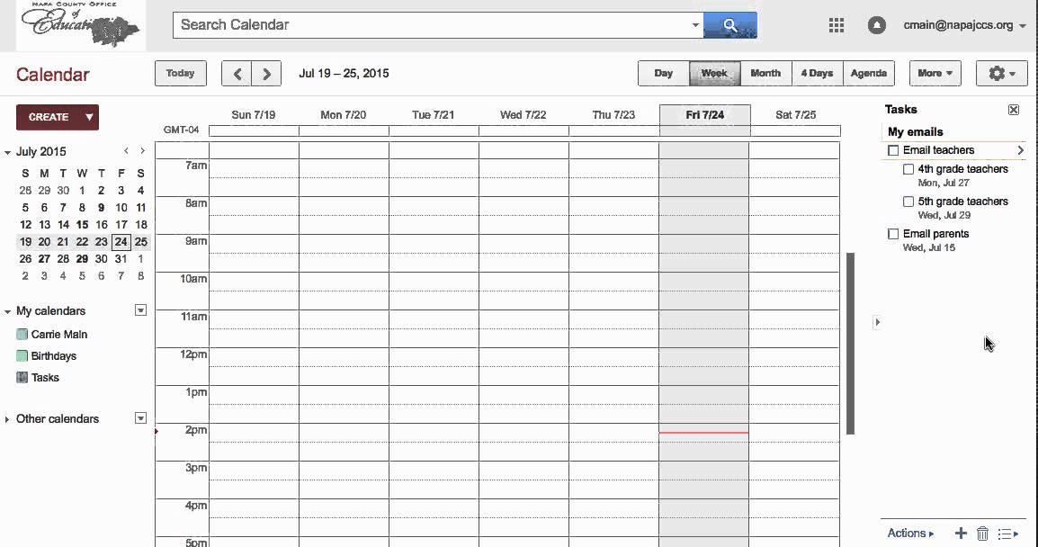 how to add google calendar tasks