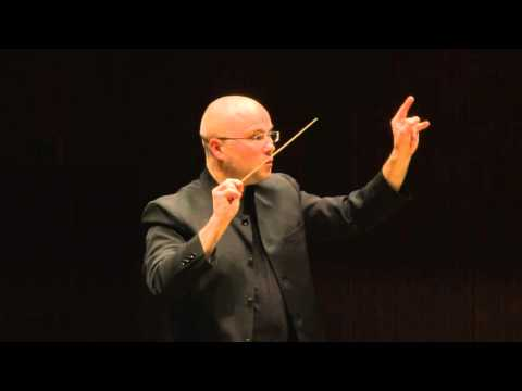 Ondřej Vrabec performing in the Finals of the Tokyo International Conducting Competition 2015