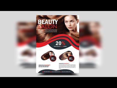 Hair Spa and Beauty Salon Flyer   Photoshop Tutorials thumbnail