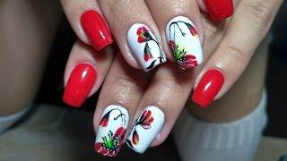 Маки на ногтях Красивый и простой весенний дизайн ногтей топ 2017. Nail art.design manicure