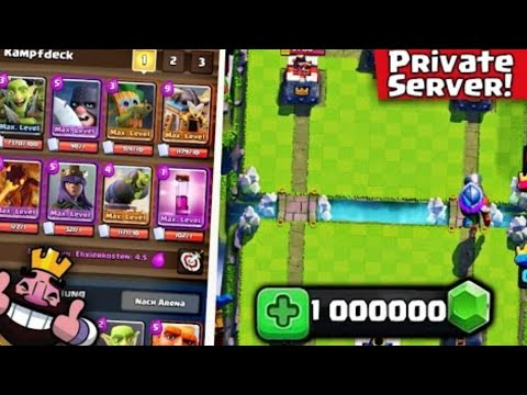 NEW!! Clash Royal  Privat Server with TOUCHDOWN!