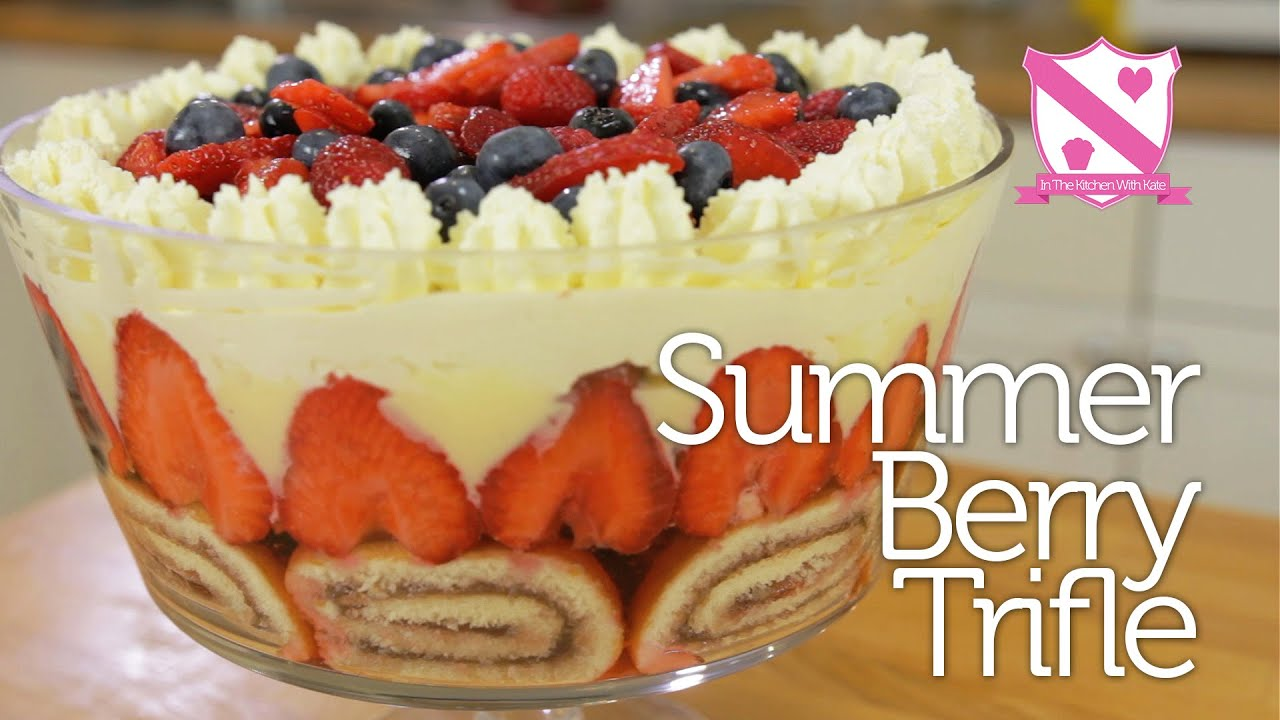 Summer Berry Trifle - In The Kitchen With Kate - YouTube