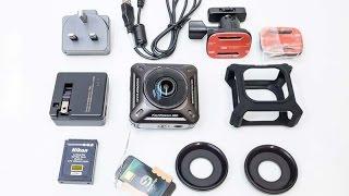 Видеокамера экшн камера Nikon KeyMission 360 Black(Nikon KeyMission 360 купить https://goo.gl/y9RYOS Купить GoPro Hero 5 Black Edition https://goo.gl/k8elcJ U3 32GB SDHC Micro SD Memory Card ..., 2017-01-25T09:08:53.000Z)