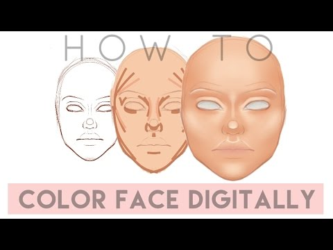 How to Color Face Digitally for beginners // SketchBook PRO | GIRLY SKETCHING