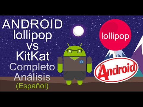 ANDROID LOLLIPOP VS ANDROID KITKAT COMPLETO ANÁLISIS EN ESPAÑOL