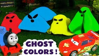 Learn Colors with Ghost Cars McQueen and Thomas and Friends Trains with the Funny Funlings TT4U