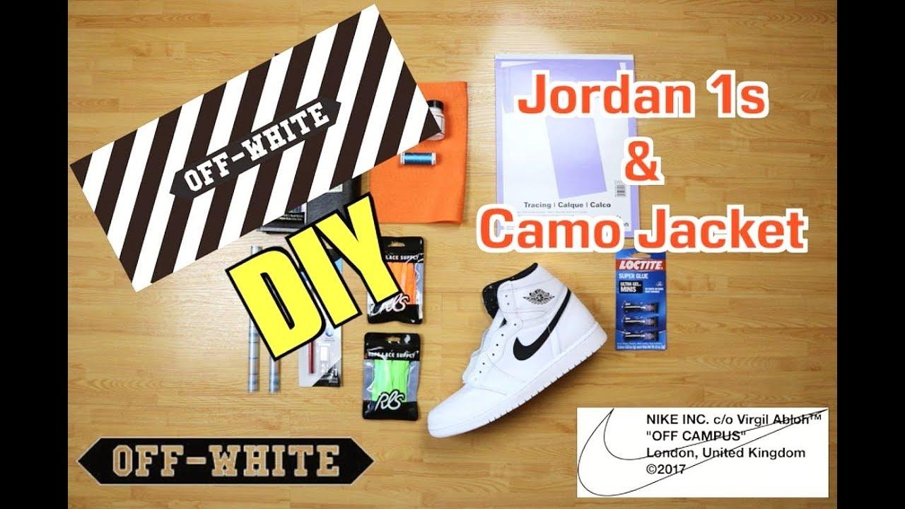 025da56b3aa DIY - Off-White Jordan 1 & Jacket - YouTube