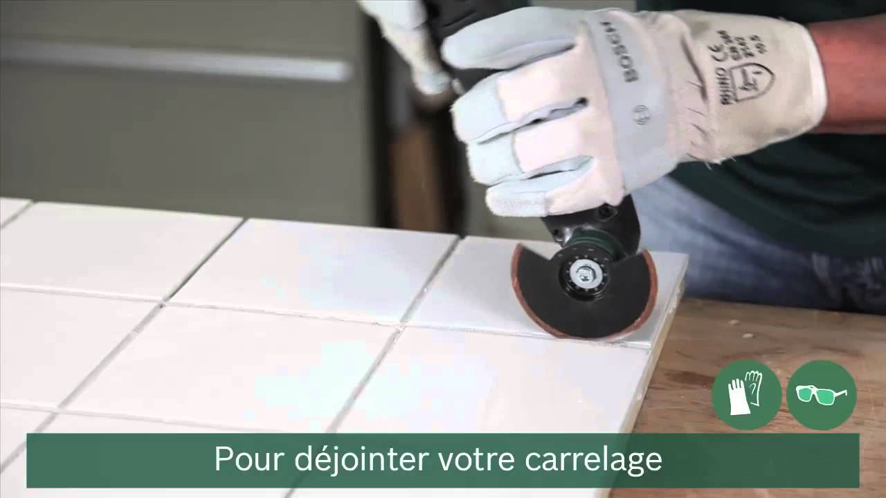 Tuto comment dejointer du carrelage youtube for Grattoir carrelage