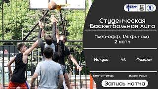 Баскетбол. СБЛ. Плей-офф. 1/4. Макуха - Физфак