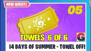 FORTNITE 14 DAYS OF SUMMER /STW.COLLECT 6/6 TOWELS