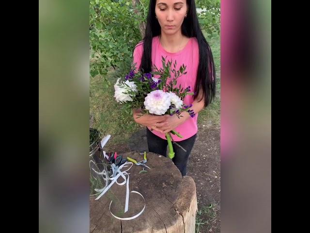 Собираем букет из садовых цветов на 1сентября