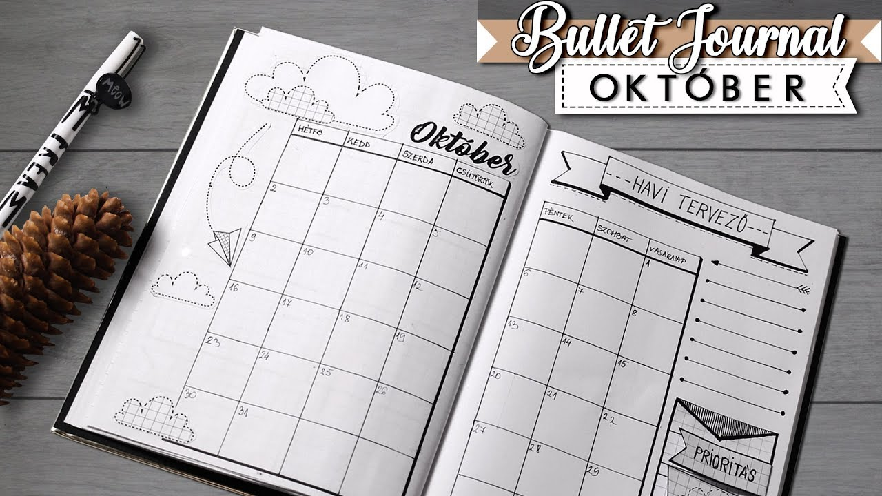 bullet journal magyar 2017 okt ber bullet journal diy printables youtube. Black Bedroom Furniture Sets. Home Design Ideas