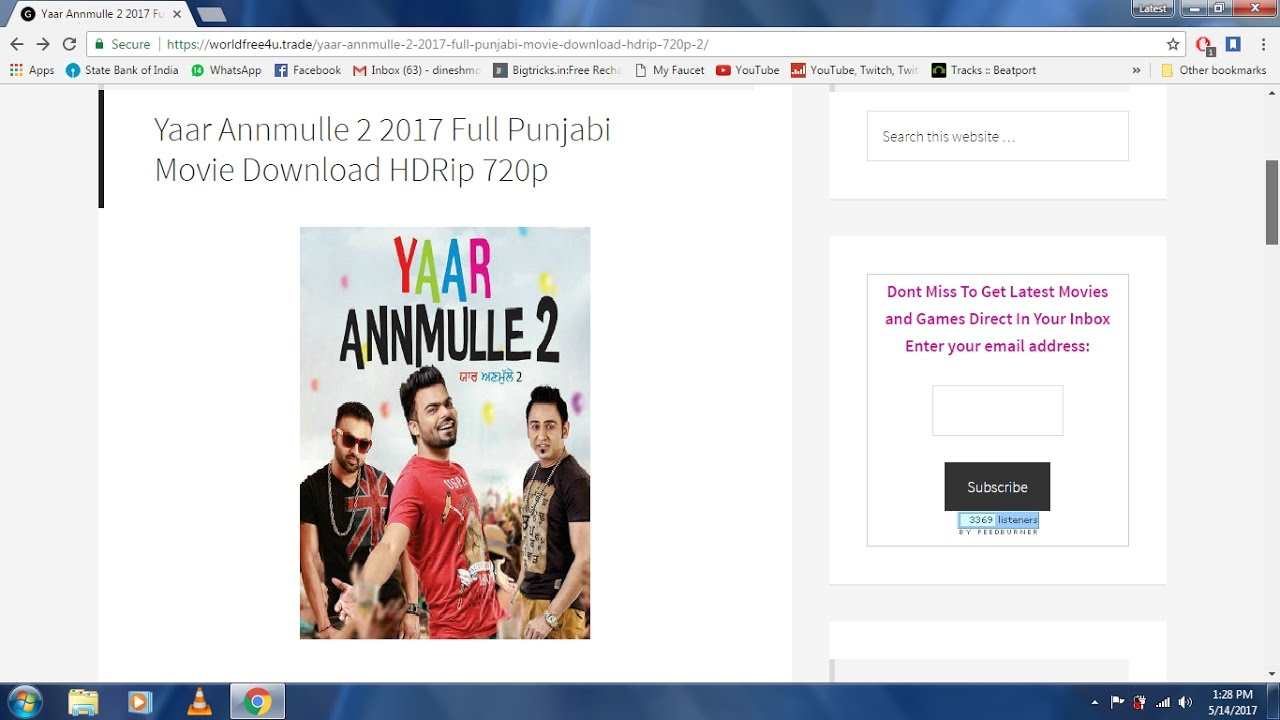 Download Yaar Annmulle 2 2017 Full Punjabi Movie Download HDRip 720p