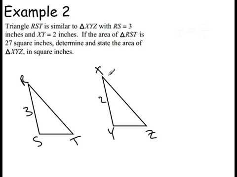 the relationship between similar triangles proof