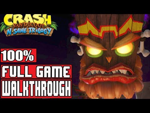 Crash Bandicoot 3 Warped PS4 Full Gameplay Walkthrough (Crash Bandicoot N. Sane Trilogy)