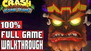 Crash Bandicoot 3 Warped PS4 Full Gameplay Walkthrough (Crash Bandicoot N. Sane Trilogy)