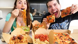 Italian MUKBANG with My Boyfriend! (Pasta + Pizza)