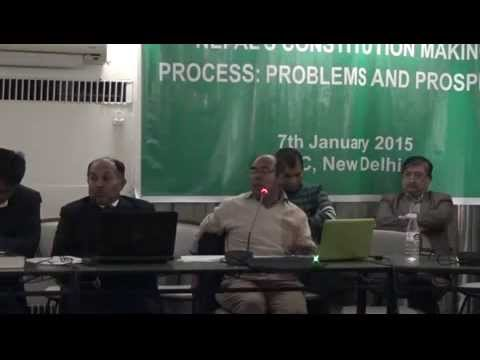 Nepal's Constitution Making Process: Problems and Prospects