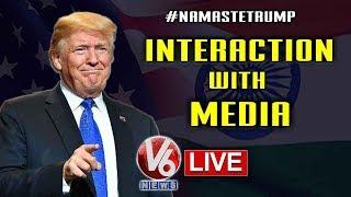 Donald Trump Interacts With Media LIVE || Delhi | Telugu News