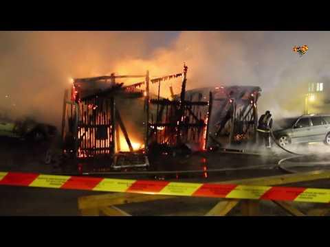 Flertalet bränder i Borlänge samtidigt - polisen jagar mordbrännare