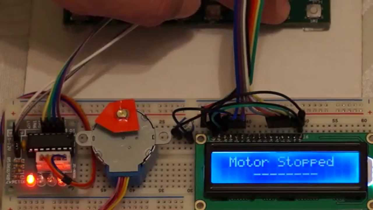 28byj 48 Stepper Motor Control On Stk500 Using Uln2003 And