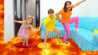 The Floor is Lava Bogdan and Anabella  !! Adevarul !!!!
