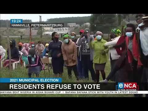 Pietermaritzburg residents refuse to vote