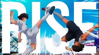 Tsubasa VS Hyuga - Captain Tsubasa「AMV」Rise