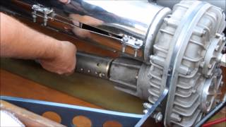 Flat Bottom V-drive Strut Bushing Replacement - Part 2: Loosening Coupler, Removing Prop Shaft